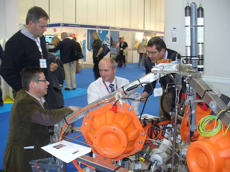 "il Lander AMERIGO alla fiera ""Oceanology International 2012"" di Londra."