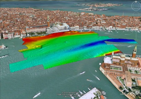 Bathymetry in front of St Mark's Square, Venice. Image courtesy: Kongsberg GeoAcoustics