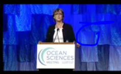 Ocean Sciences Meeting 2020: Alessandra Conversi introduces the opening plenary speaker Nainoa Thompson