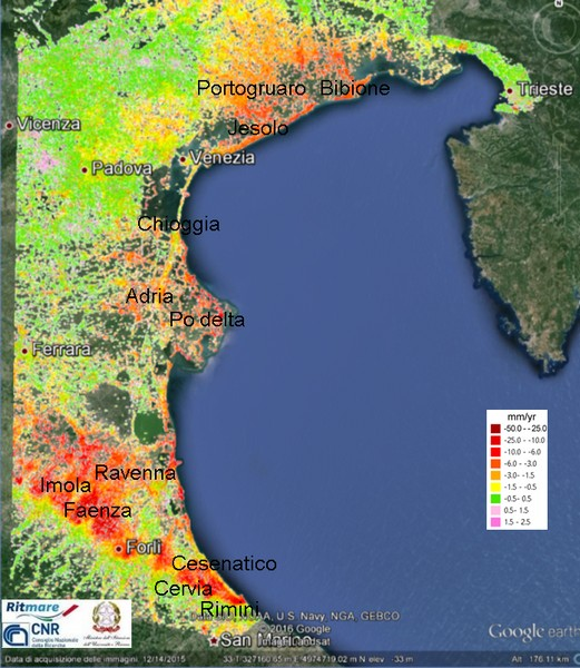 Land subsidence in coastal cities