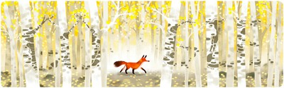 doodle - forest & red fox